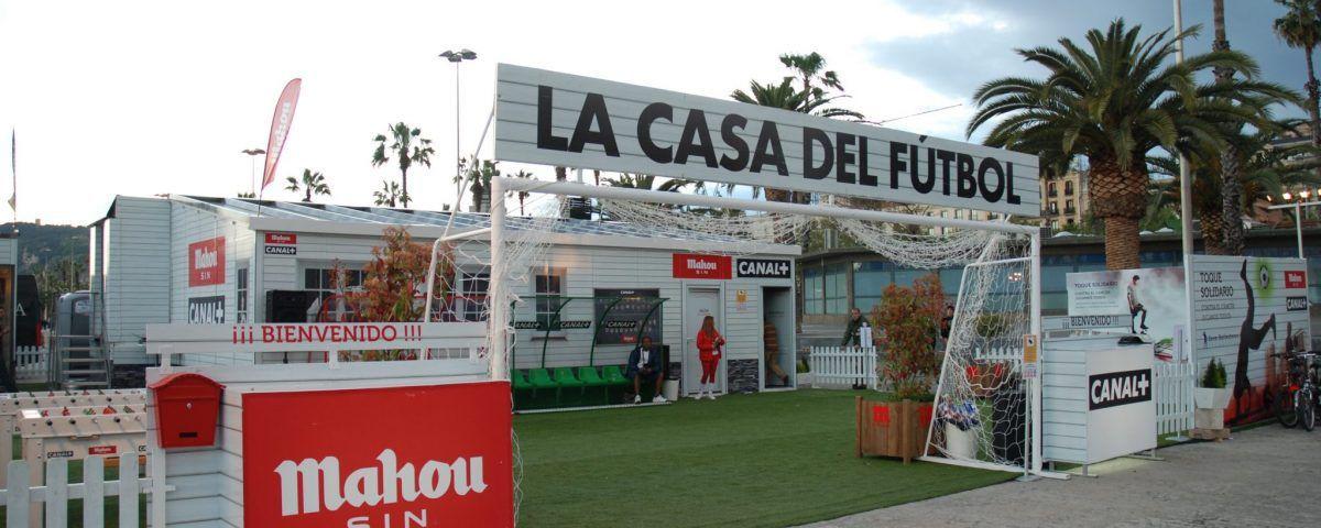 La Casa del Fútbol. Campaña de Btl para Canal+ y Mahou 2