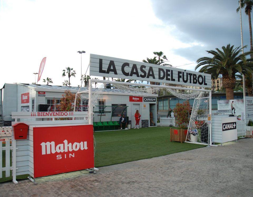 La Casa del Fútbol. Campaña de Btl para Canal+ y Mahou 8